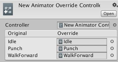 Animator Override Controller
