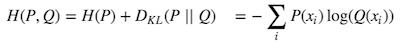 交差エントロピーの定義