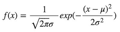 正規分布の式