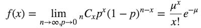 ポアソン分布の式