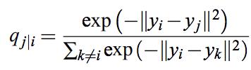 出力データ間の類似度q_{j|i}