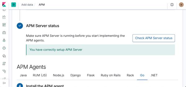 APM Server status