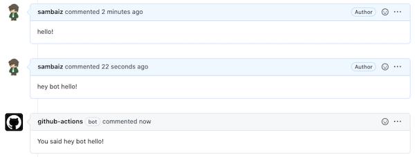 botによるコメントの投稿