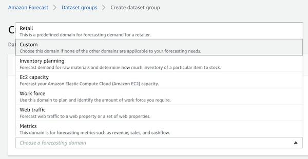 Dataset groupの作成